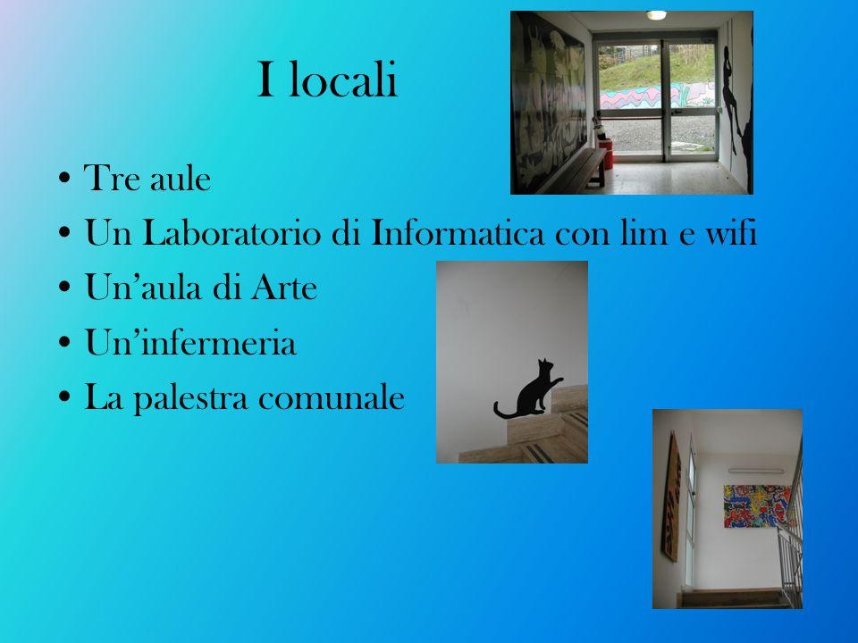 I locali Tre aule Un Laboratorio di Informatica con lim e wifi
