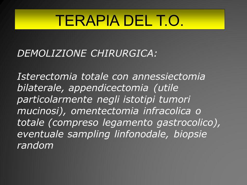 TERAPIA DEL T.O. DEMOLIZIONE CHIRURGICA: