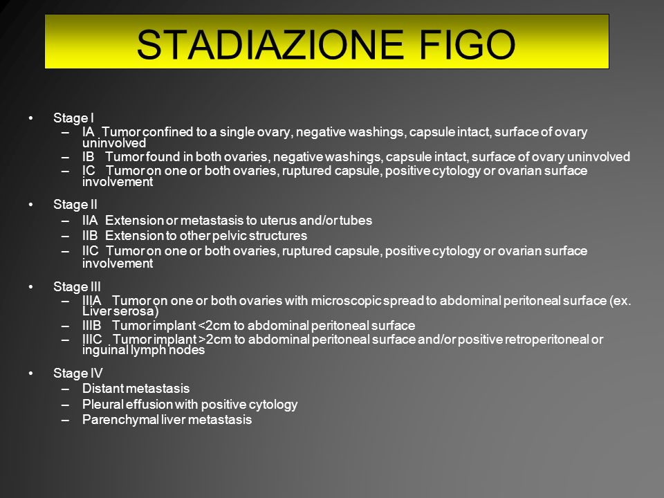 STADIAZIONE FIGO Stage I