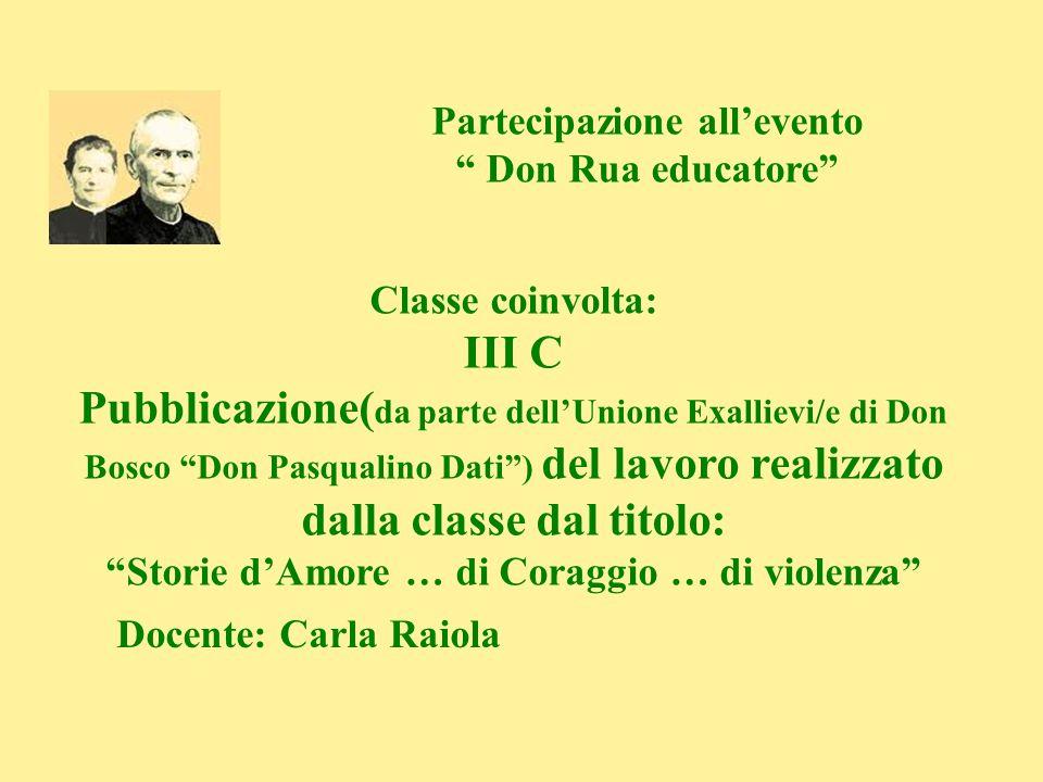 Partecipazione all'evento Don Rua educatore