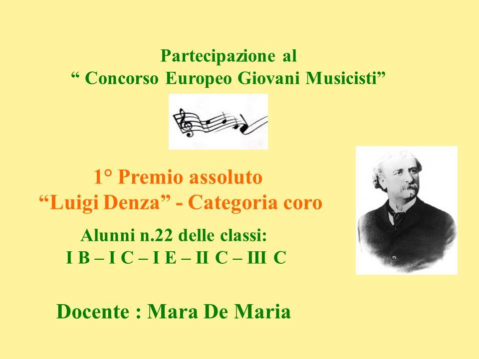 Concorso Europeo Giovani Musicisti Luigi Denza - Categoria coro