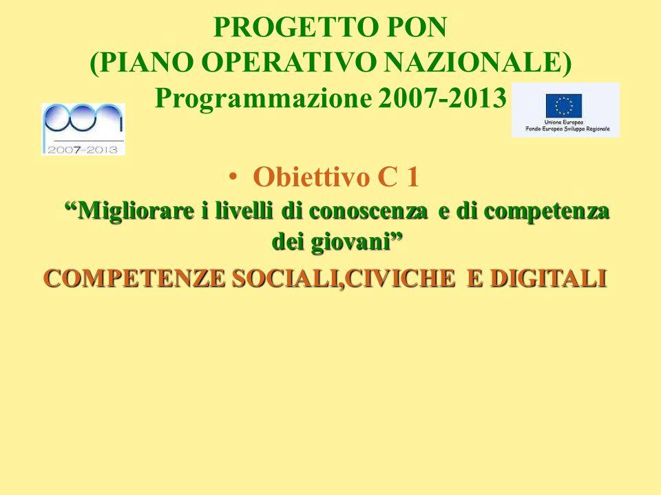 PROGETTO PON (PIANO OPERATIVO NAZIONALE) Programmazione 2007-2013