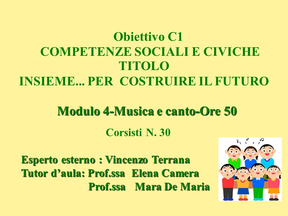 Obiettivo C1 COMPETENZE SOCIALI E CIVICHE