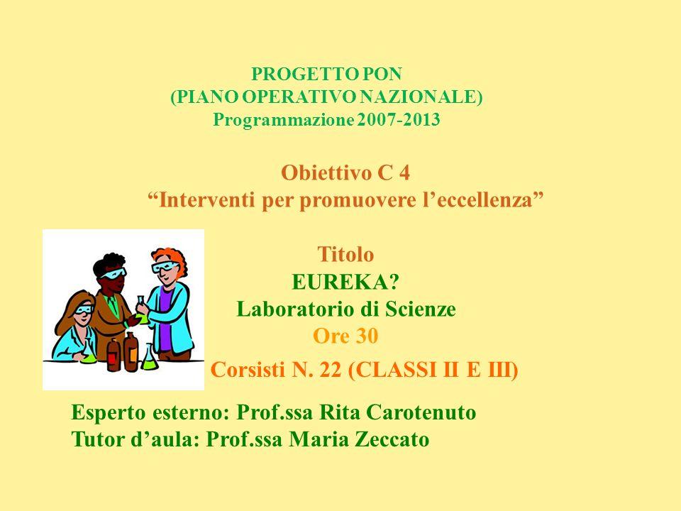 Interventi per promuovere l'eccellenza Titolo EUREKA