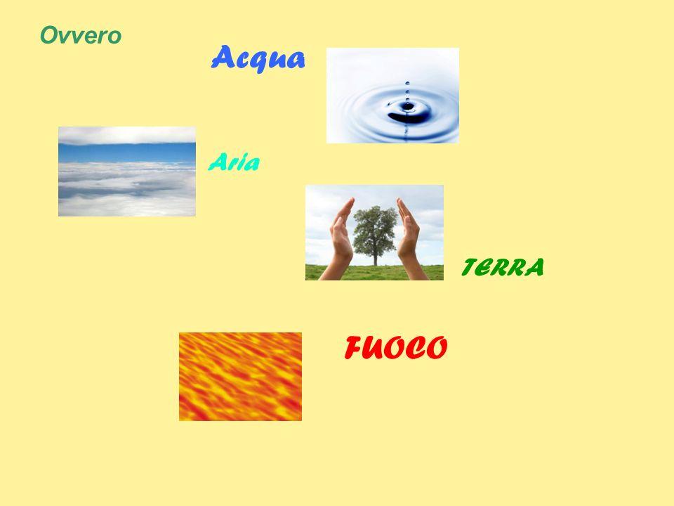 Ovvero Acqua Aria TERRA FUOCO