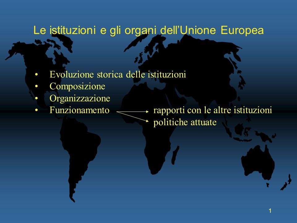 Le istituzioni e gli organi dell'Unione Europea