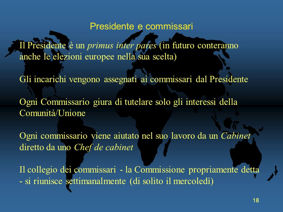 Presidente e commissari