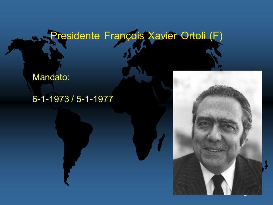 Presidente François Xavier Ortoli (F)