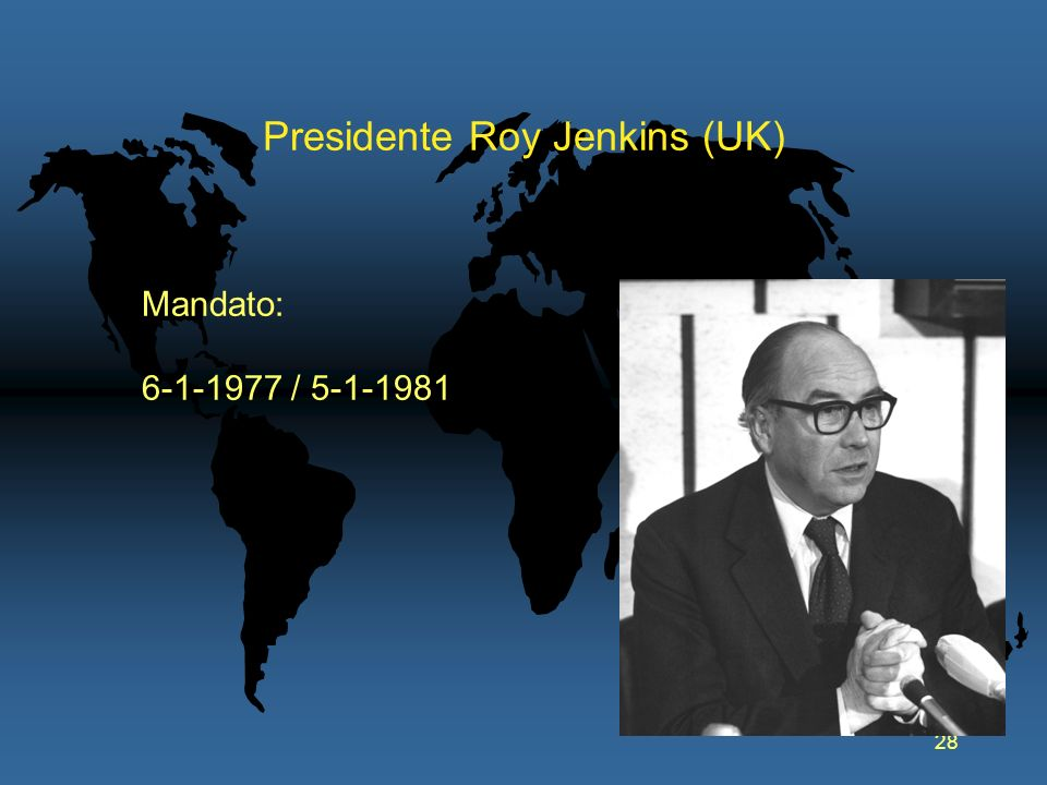 Presidente Roy Jenkins (UK)