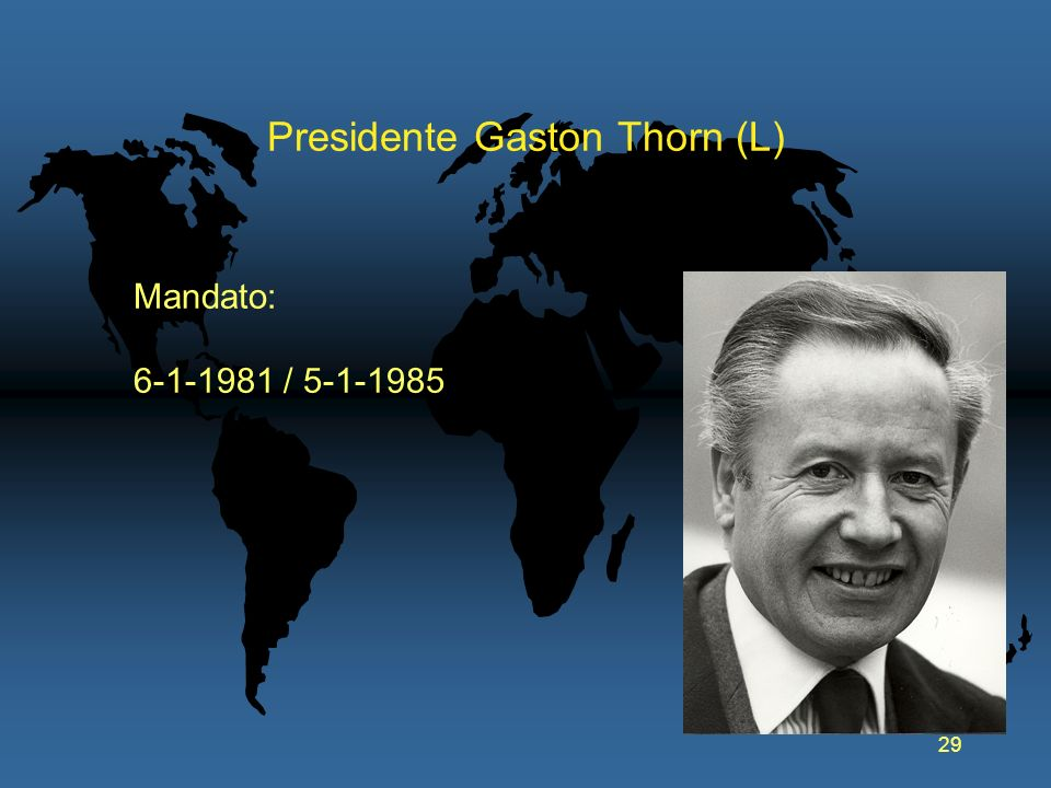 Presidente Gaston Thorn (L)