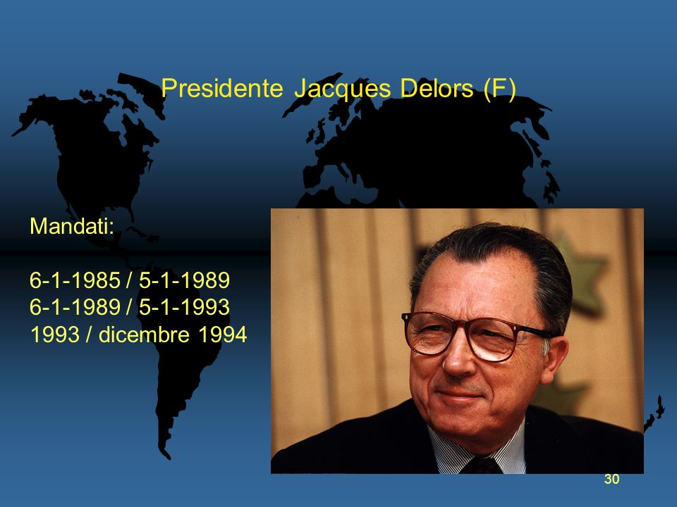 Presidente Jacques Delors (F)