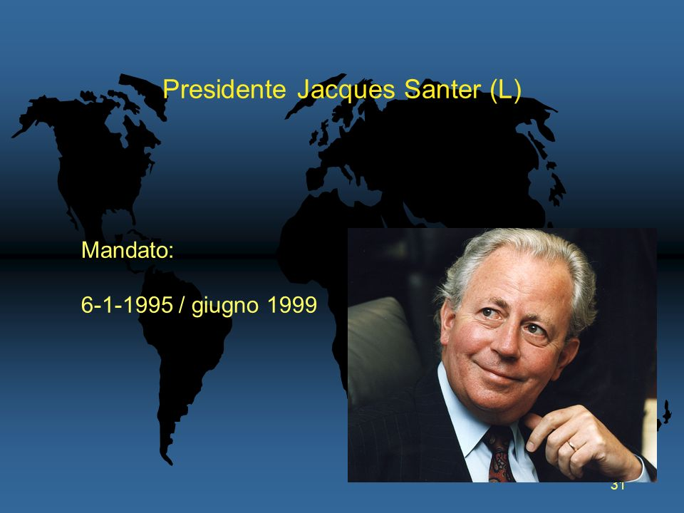 Presidente Jacques Santer (L)
