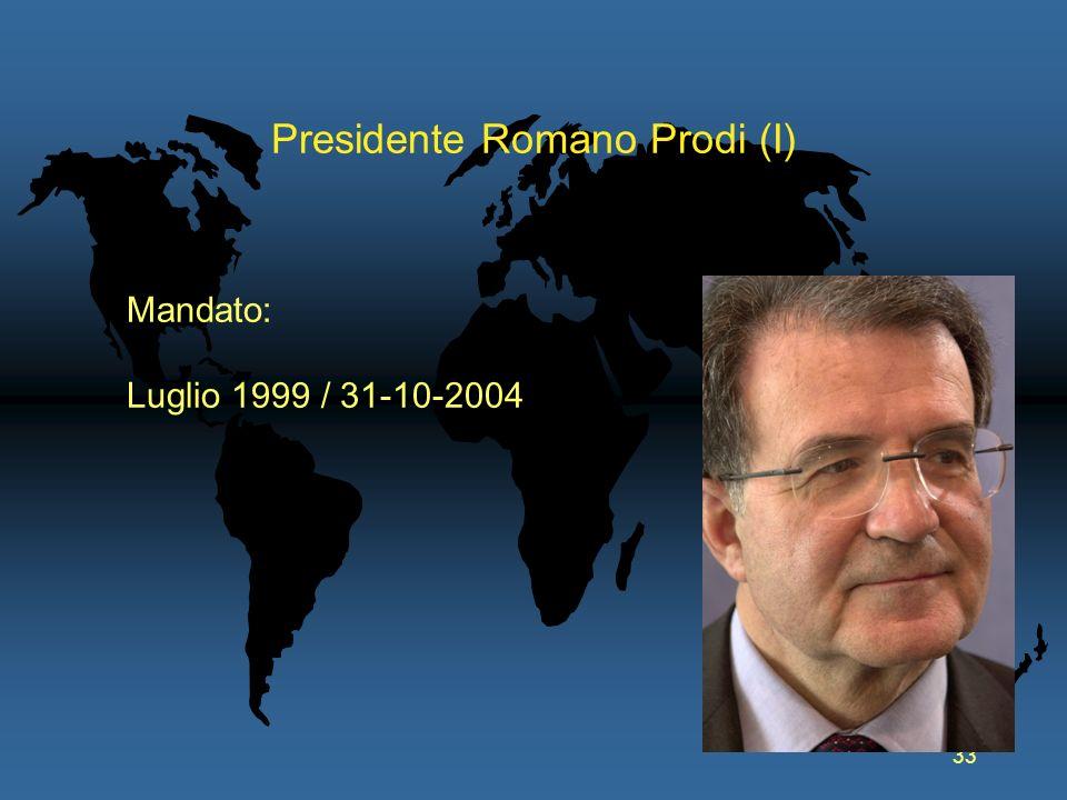 Presidente Romano Prodi (I)
