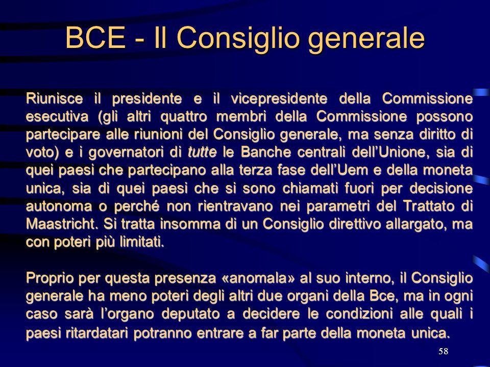 BCE - Il Consiglio generale