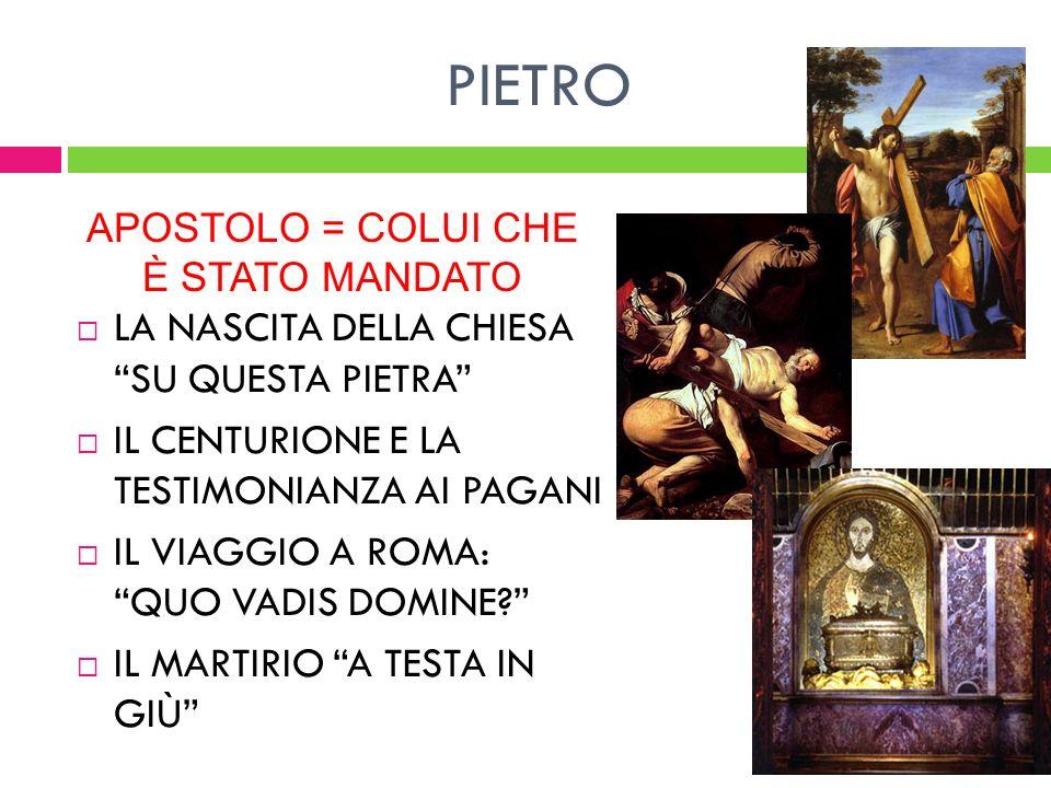 APOSTOLO = COLUI CHE È STATO MANDATO