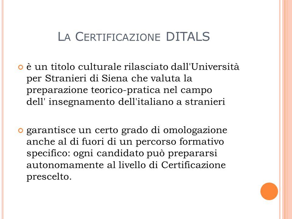 La Certificazione DITALS