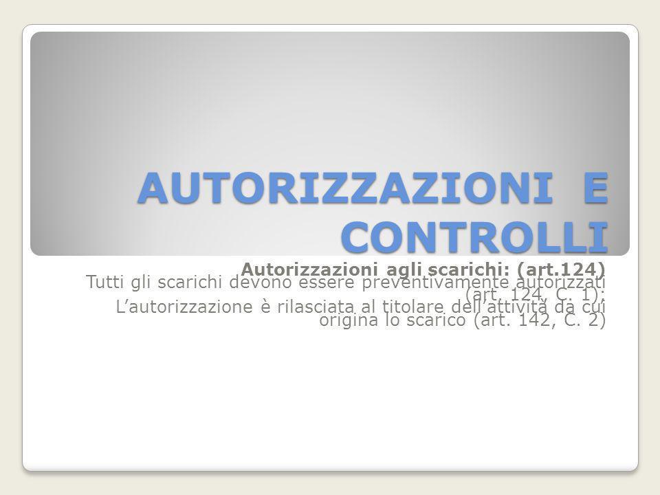 AUTORIZZAZIONI E CONTROLLI