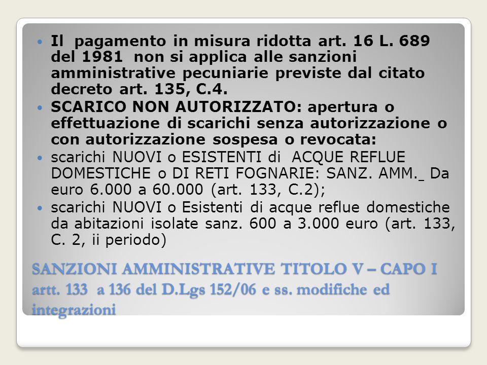 Il pagamento in misura ridotta art. 16 L