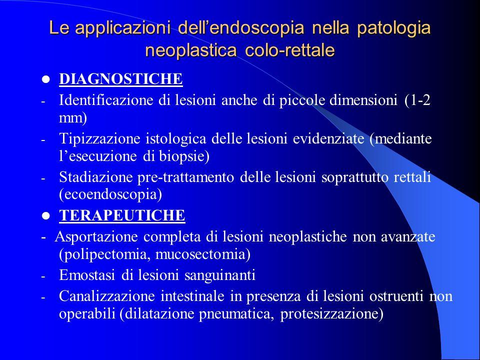 Le applicazioni dell'endoscopia nella patologia neoplastica colo-rettale