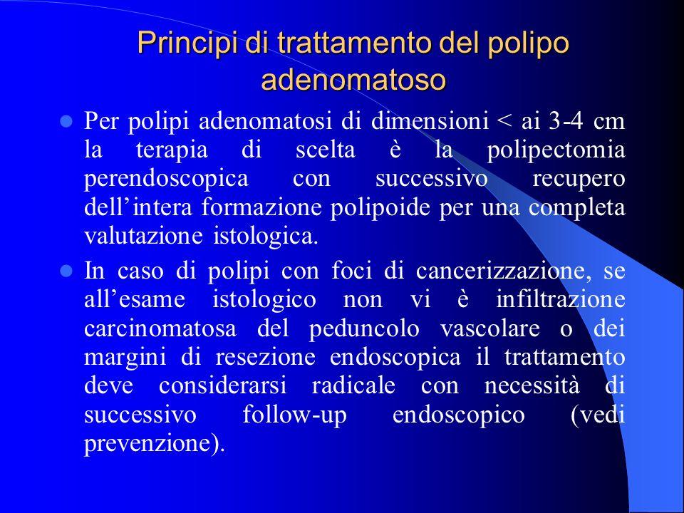 Principi di trattamento del polipo adenomatoso