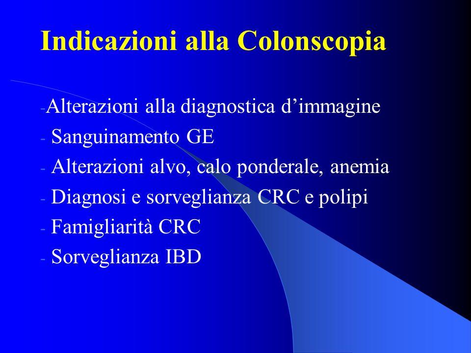 Indicazioni alla Colonscopia