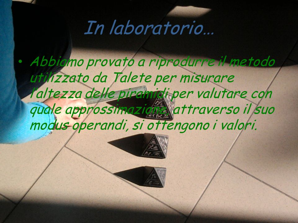 In laboratorio…