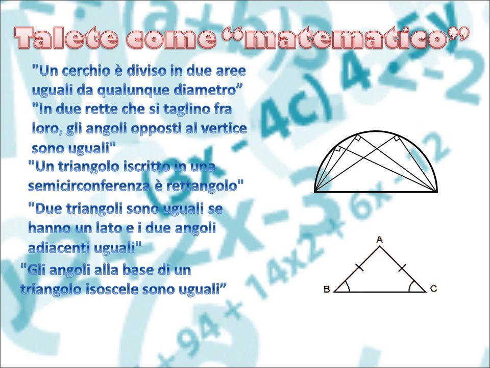 Talete come matematico