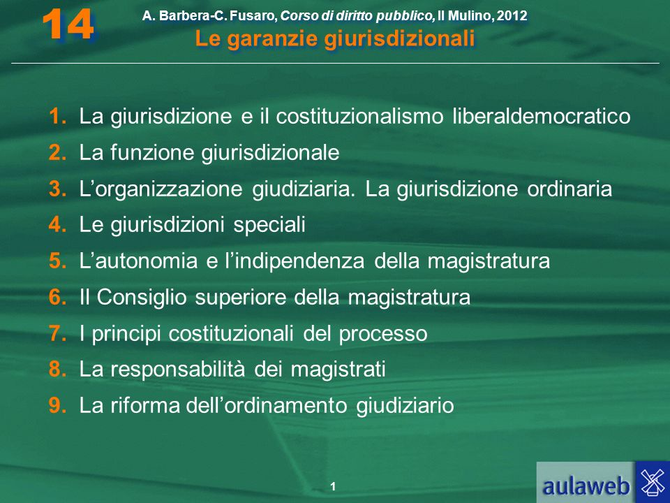 14 1. La giurisdizione e il costituzionalismo liberaldemocratico