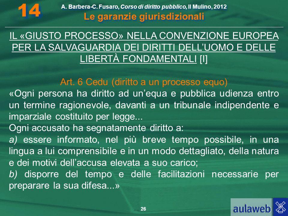 Art. 6 Cedu (diritto a un processo equo)