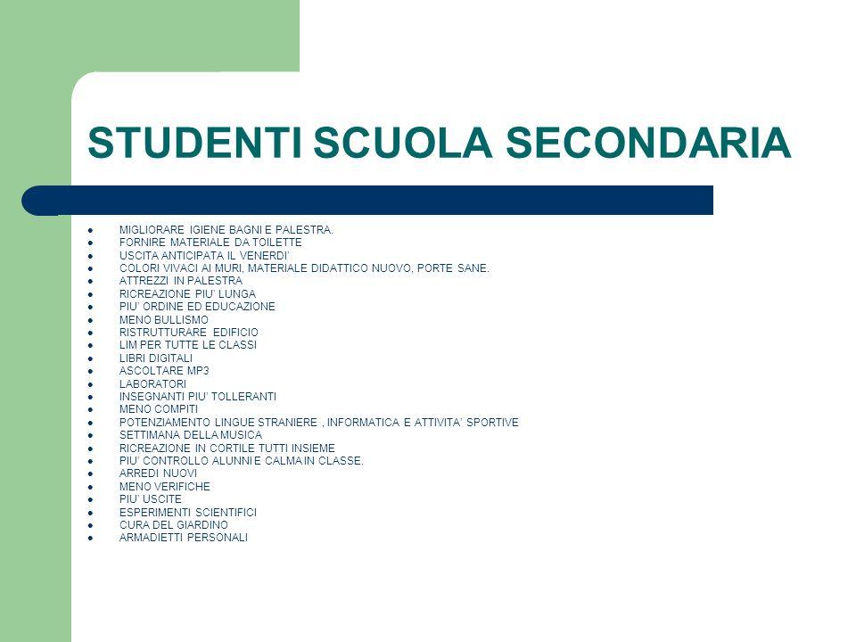 STUDENTI SCUOLA SECONDARIA
