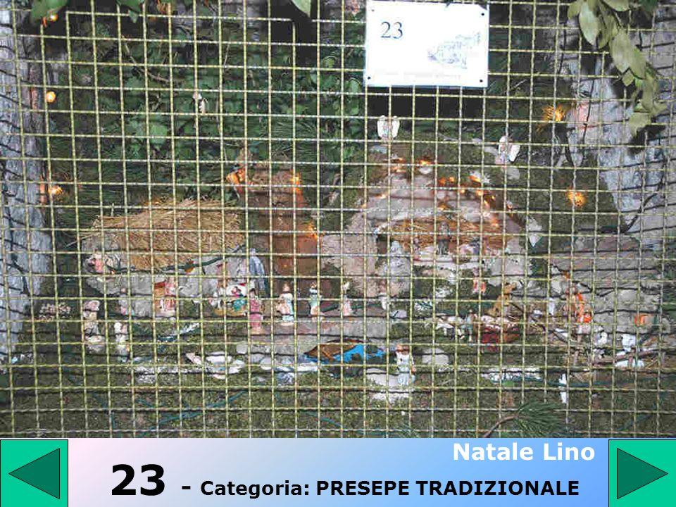 23 - Categoria: PRESEPE TRADIZIONALE