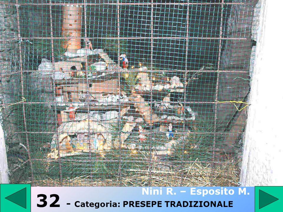 32 - Categoria: PRESEPE TRADIZIONALE