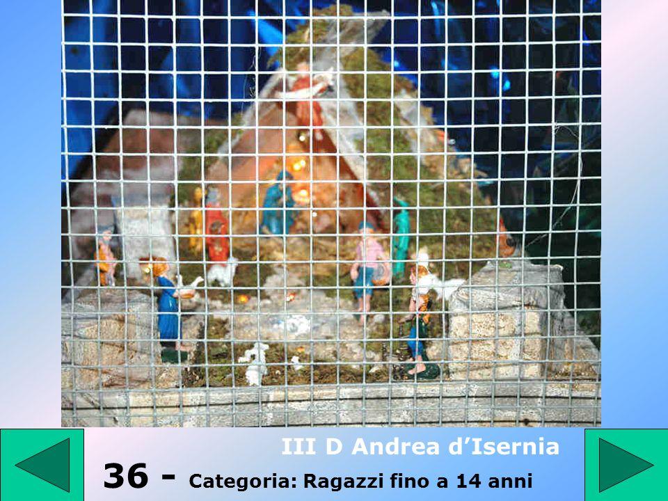 36 - Categoria: Ragazzi fino a 14 anni