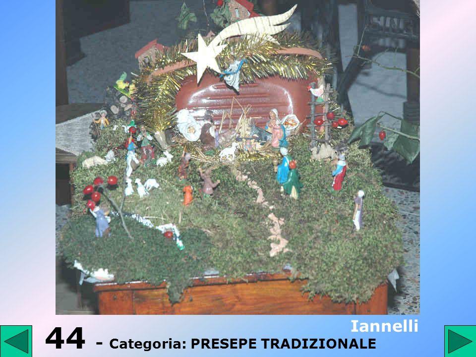 44 - Categoria: PRESEPE TRADIZIONALE