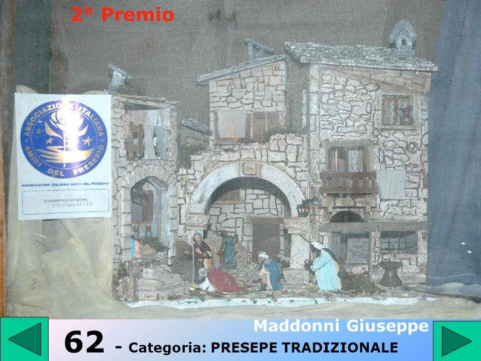 62 - Categoria: PRESEPE TRADIZIONALE