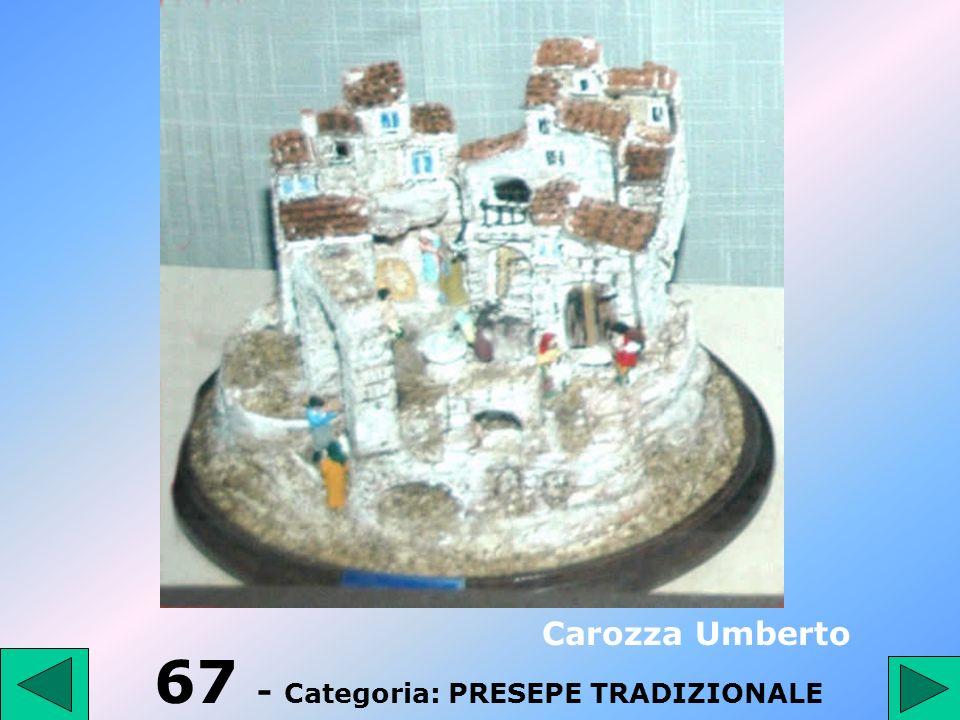67 - Categoria: PRESEPE TRADIZIONALE
