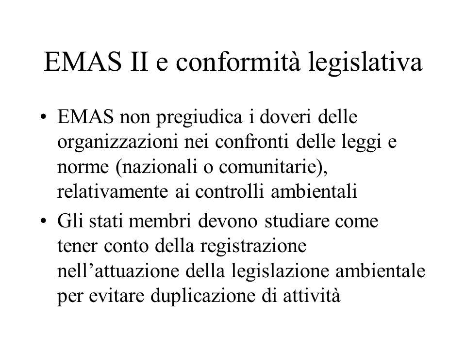 EMAS II e conformità legislativa