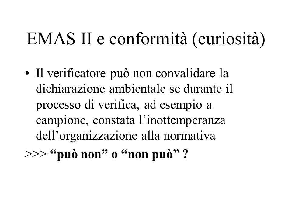 EMAS II e conformità (curiosità)