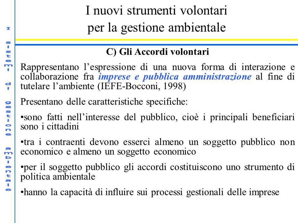 C) Gli Accordi volontari