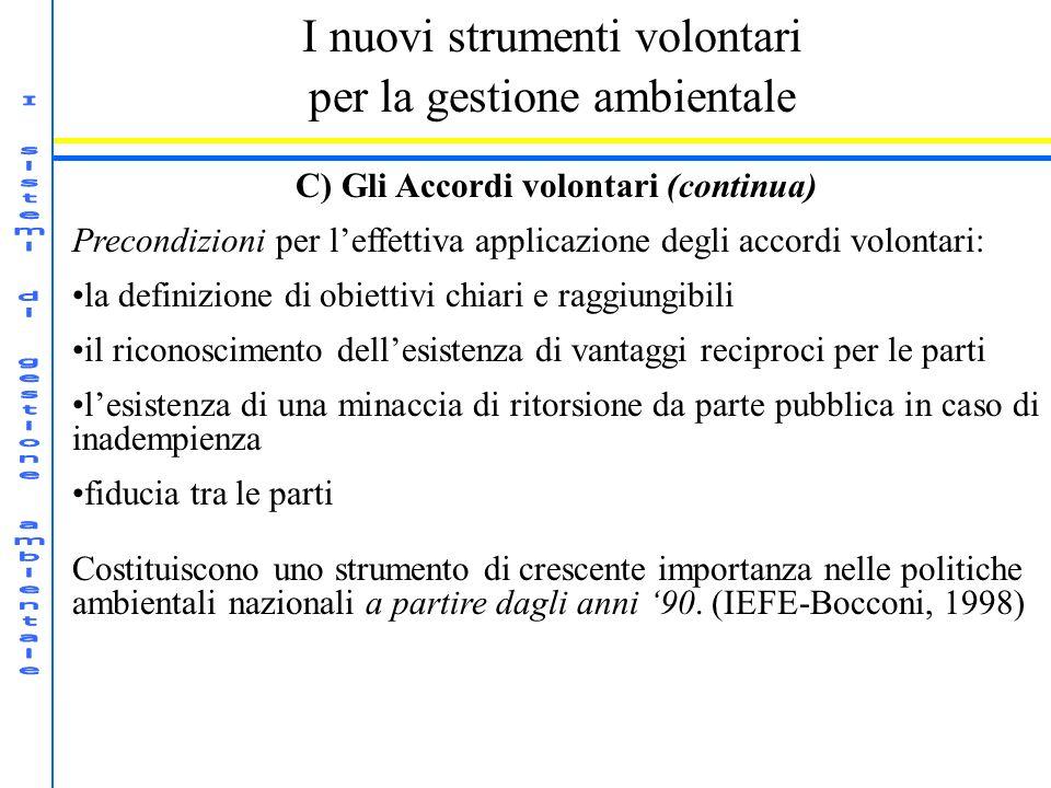 C) Gli Accordi volontari (continua)