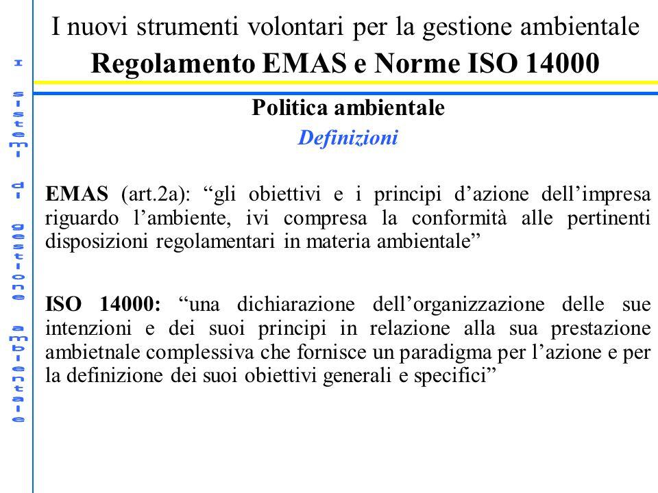 Regolamento EMAS e Norme ISO 14000