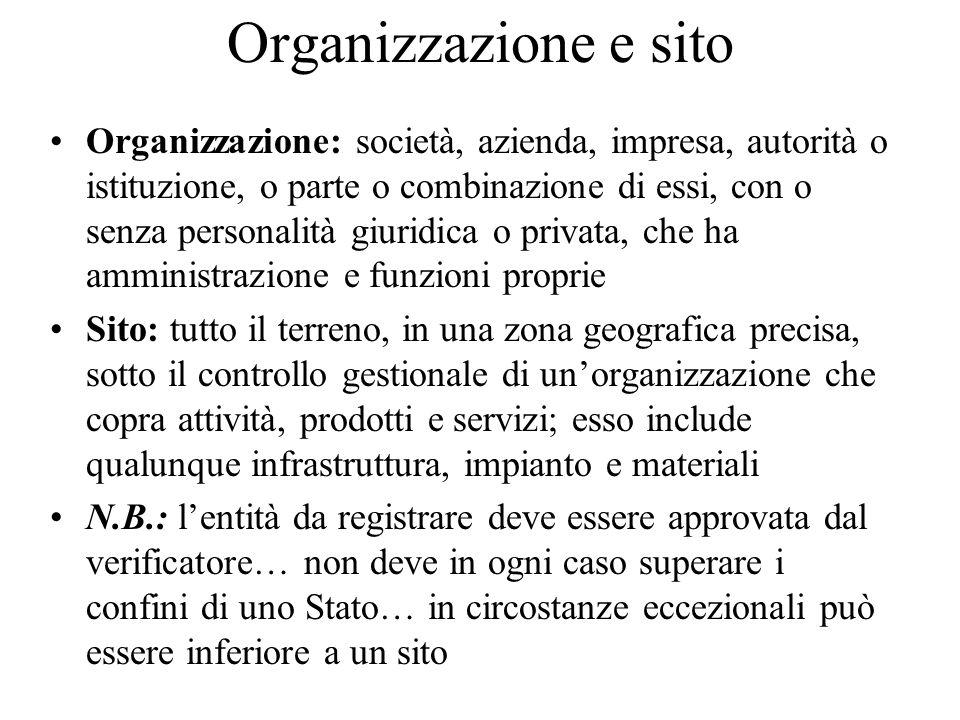 Organizzazione e sito