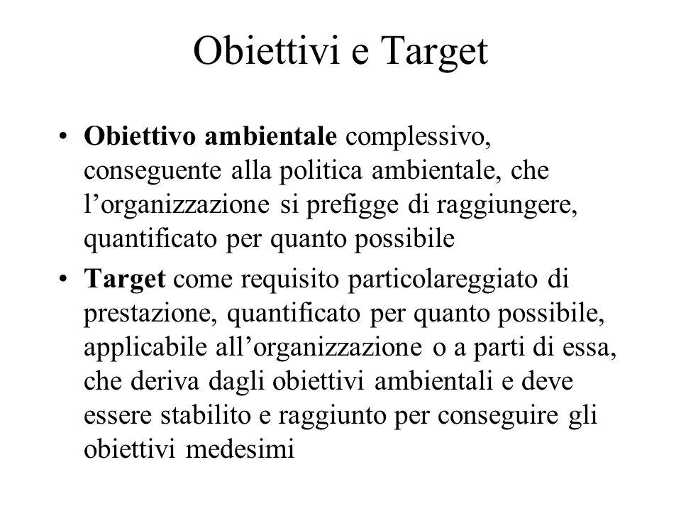 Obiettivi e Target