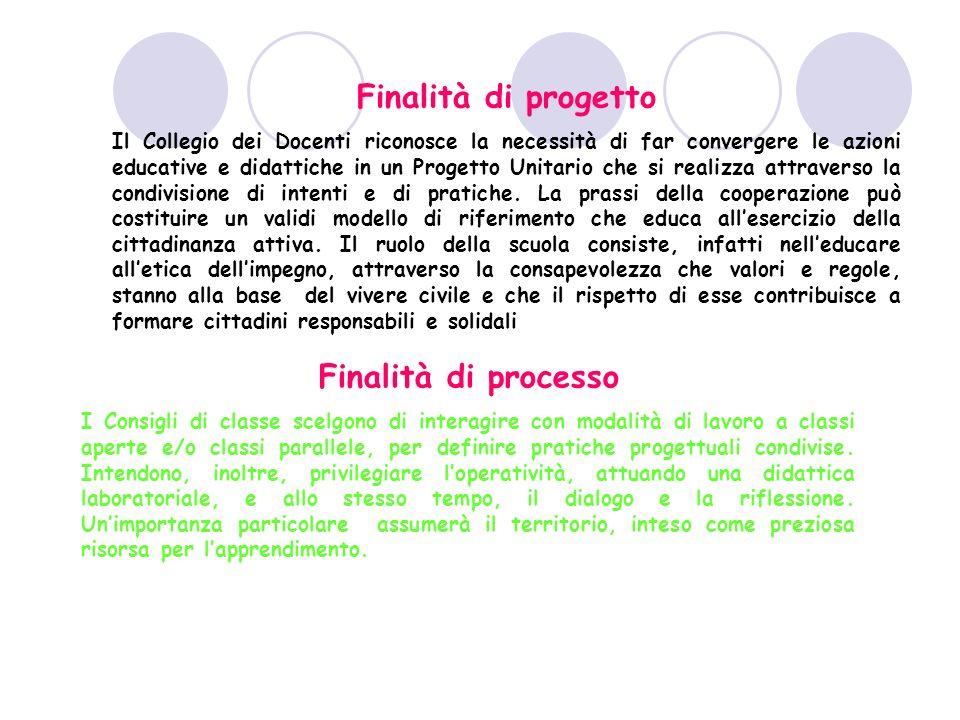 Finalità di progetto Finalità di processo