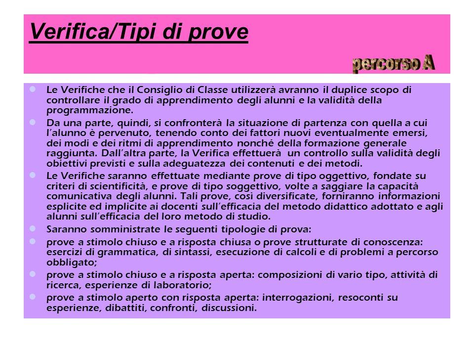 Verifica/Tipi di prove