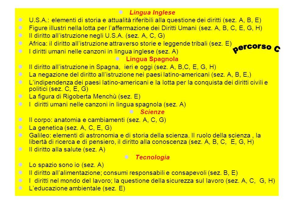 percorso C Lingua Inglese