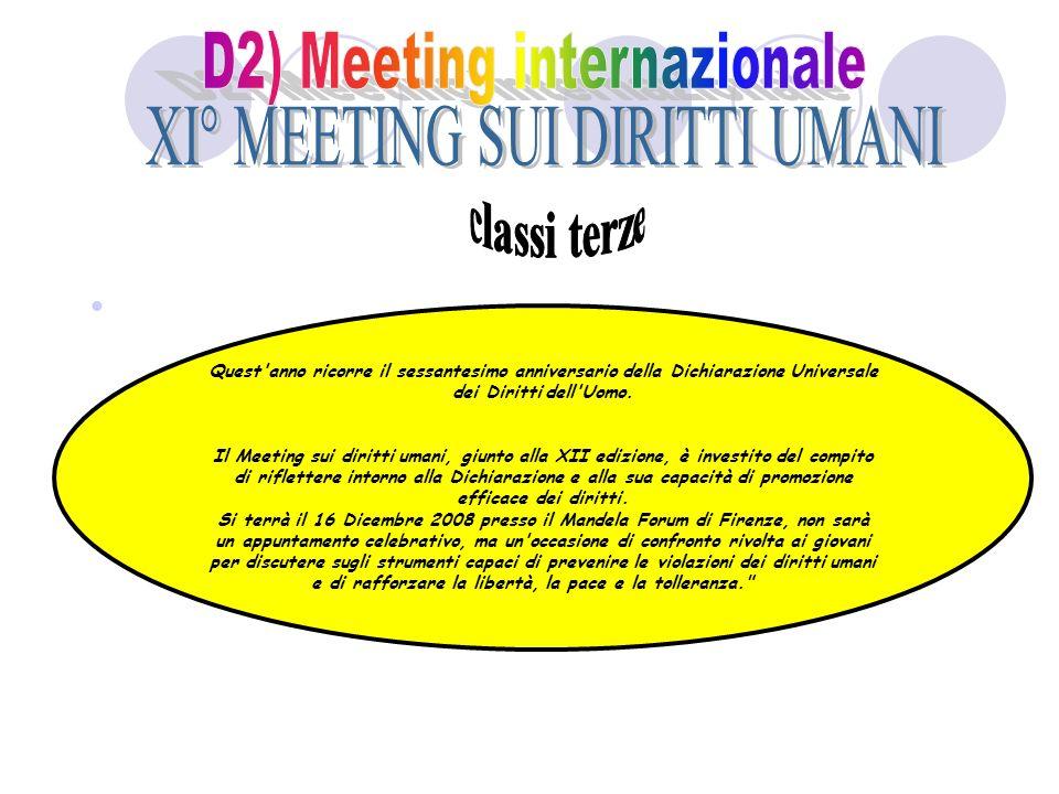 D2) Meeting internazionale XI° MEETING SUI DIRITTI UMANI