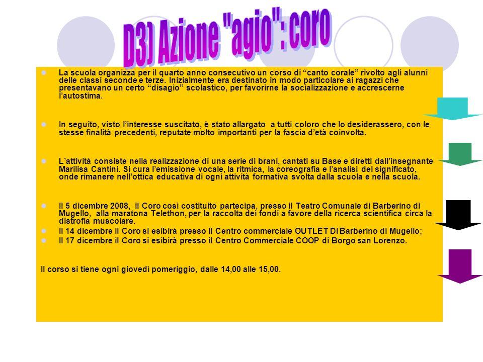 D3) Azione agio : coro