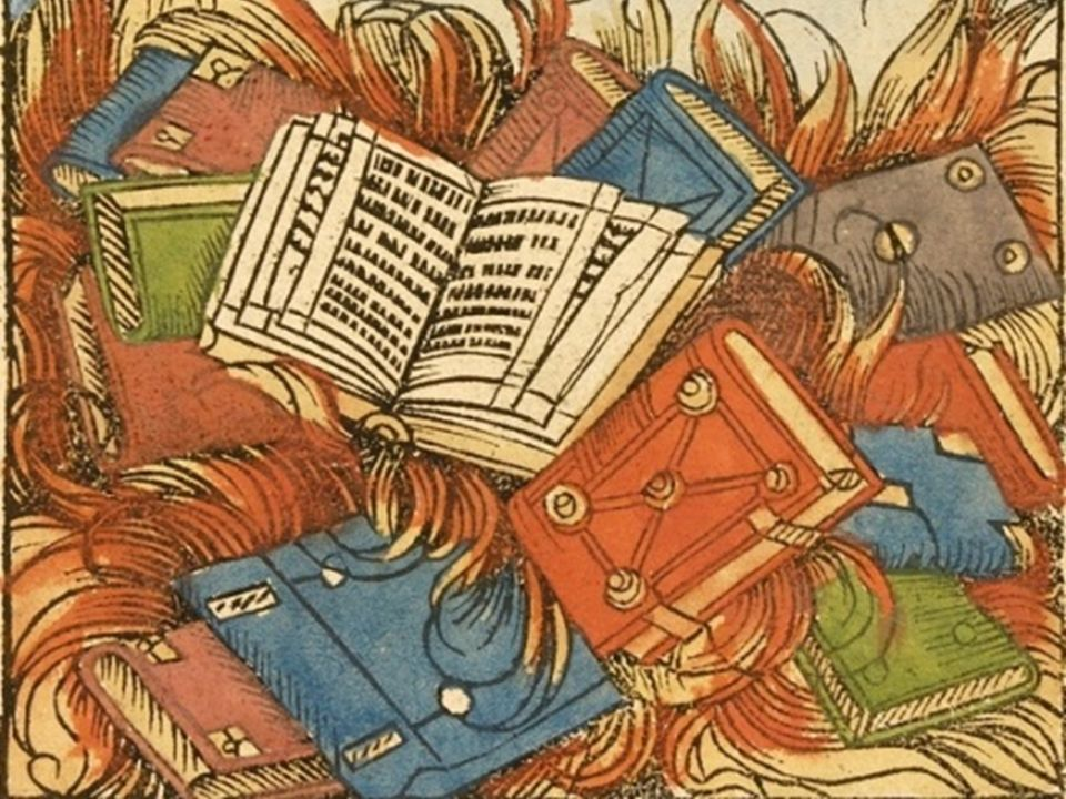 «La mia biblioteca fu data alle fiamme dai cristiani.»