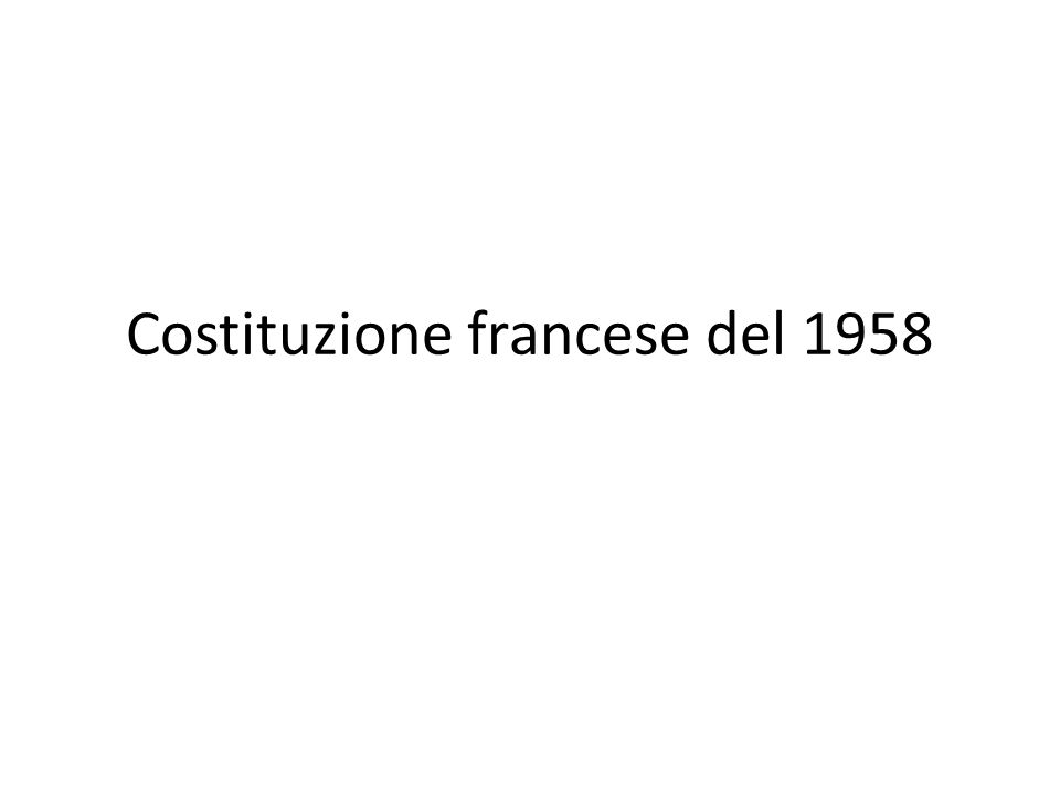 Costituzione francese del 1958